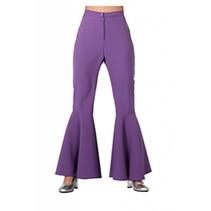 Hippie broek bi-stretch paars