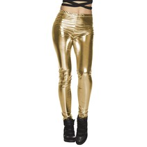 Legging glans goud