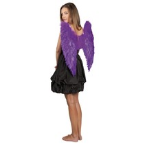 Engelenvleugel paars 65x65cm