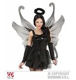Maxi vleugel zwart glitter