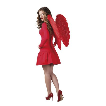 Engelenvleugel rood 65x65cm