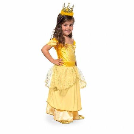 Prinsessenjurk kind Goud