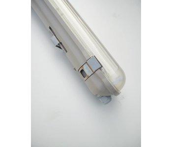 Ledige LED Armatuur Enkel Waterdicht IP65 120 cm Opbouw.