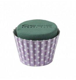 OASIS® FLORAL FOAM Cupcake Lila Ø6x8cm   6st