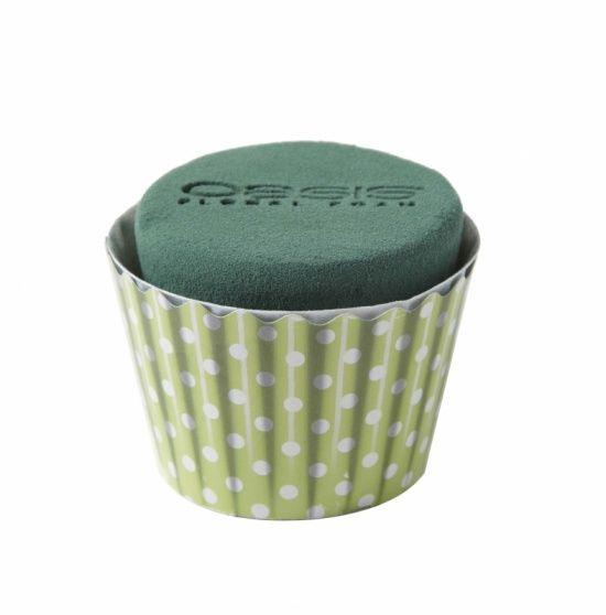OASIS® FLORAL FOAM Cupcake Mint Ø6x8cm | 6 stuks