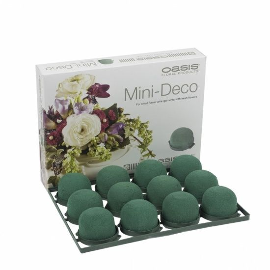 OASIS® FLORAL FOAM Mini Deco Ø5x3,5cm | 12 stuks