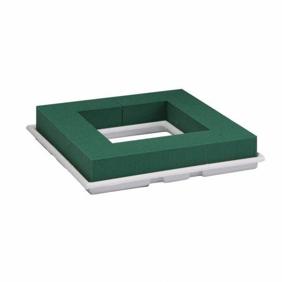 OASIS® FLORAL FOAM Table Deco Quadro 27x27x4,5cm | 2 stuks