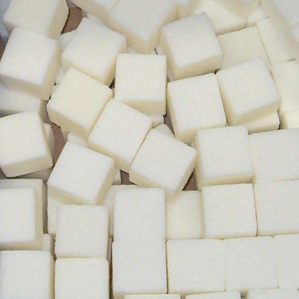 OASIS® RAINBOW® Mini Cubes 2x2x2cm - Ivory   300 stuks