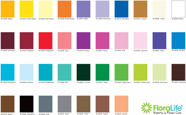 Floralife® Aqua Color Spray - Kleurkaarten
