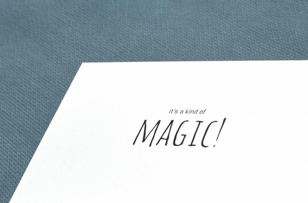 KEET Wenskaart - KEET BLACK - MAGIC!