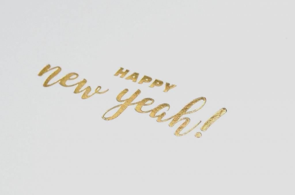 KEET Wenskaart - KEET GOLD - HAPPY NEW YEAH