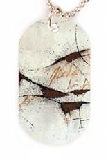 Halskette mit Designer PicTag-Anhänger: Botschaft