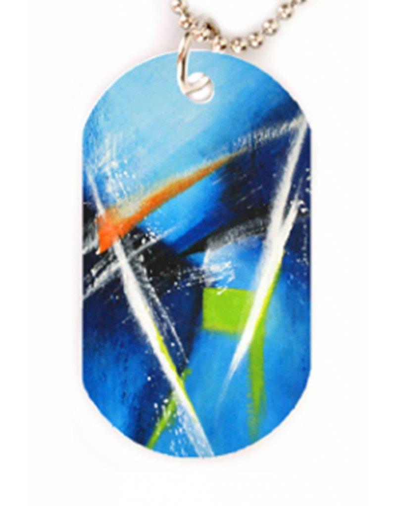 FreistilKunst C.Fischer Halskette mit Designer PicTag-Anhänger: Innere Kraft