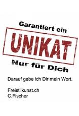 FreistilKunst C.Fischer Moderne Designer Shoppertasche mit Reissverschluss 'Ausbruch'