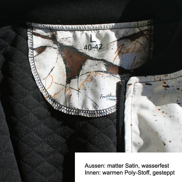 C.Fischer Stylische Designer Bomberjacke: Botschaft