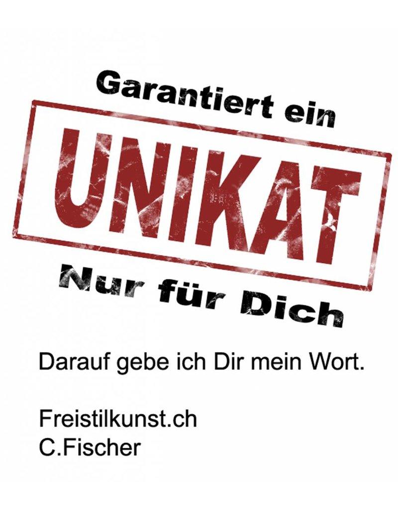 C.Fischer Coole Designer Bomberjacke: Botschaft