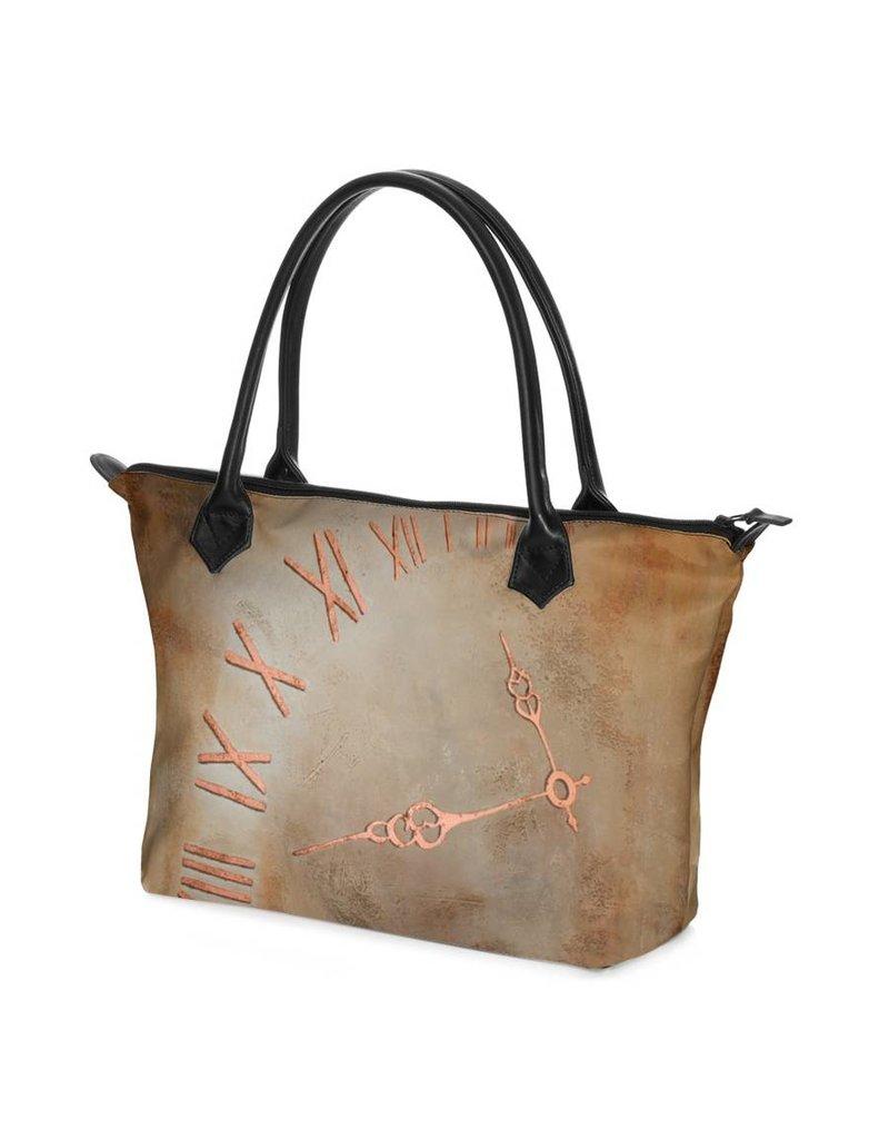 FreistilKunst C.Fischer Elegante Designer Shoppertasche mit Reissverschluss 'Zeitgeist'