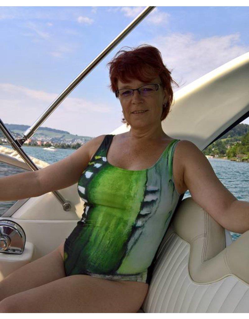 C.Fischer Stylischer Designer Badeanzug: Weg der Hoffnung