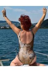 C.Fischer Schicker Designer Badeanzug 'Herbstgeflüster'