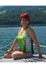 C.Fischer Stylischer Designer Badeanzug: Herzliche Energie