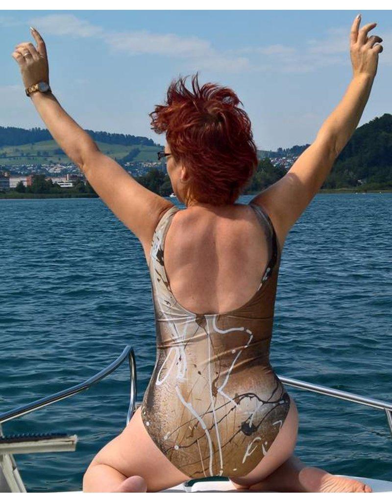 C.Fischer Stylischer Designer Badeanzug 'Herzliche Energie'