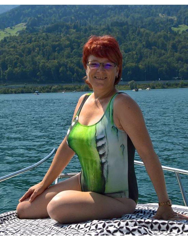 C.Fischer Stylischer Designer Badeanzug: Insel der Träume
