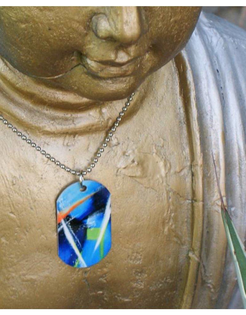 C.Fischer Halskette mit Designer PicTag-Anhänger: Innere Kraft