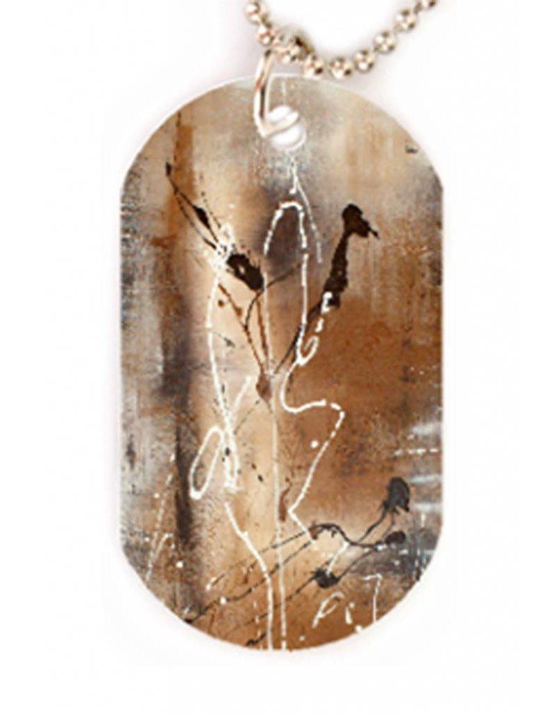 C.Fischer Modische Halskette mit Designer PicTag-Anhänger 'Herbstgeflüster' - Copy