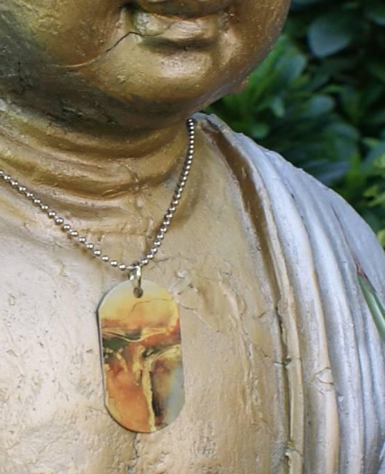 C.Fischer Halskette mit Designer PicTag-Anhänger: Ausbruch