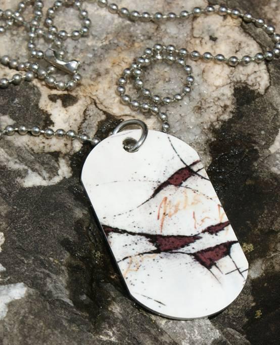 C.Fischer Halskette mit Designer PicTag-Anhänger: Botschaft
