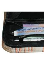 C.Fischer Designer Damenbrieftasche, Leder: Ausbruch