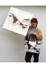 C.Fischer Grossartige Designer Shoppertasche mit Reissverschluss 'Botschaft'