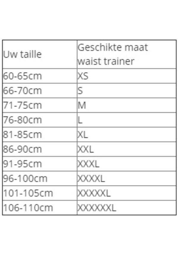 Latex waist trainer - showroom modellen