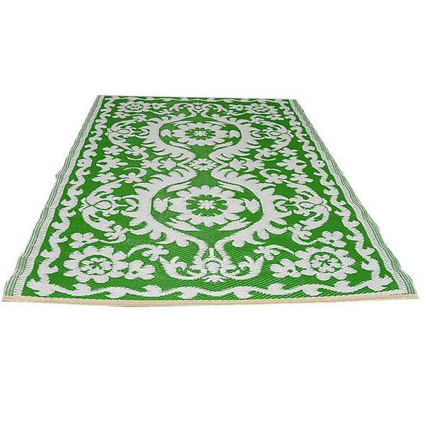Wonder Rugs Buitenkleed groen wit hippy