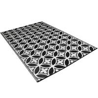 Wonder Rugs Buitenkleed design zwart wit