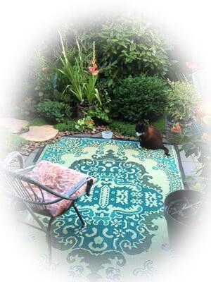Buitenkleed in de tuin