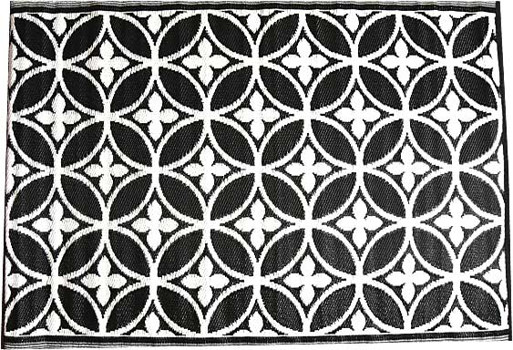Zwart wit buiten vloerkleed