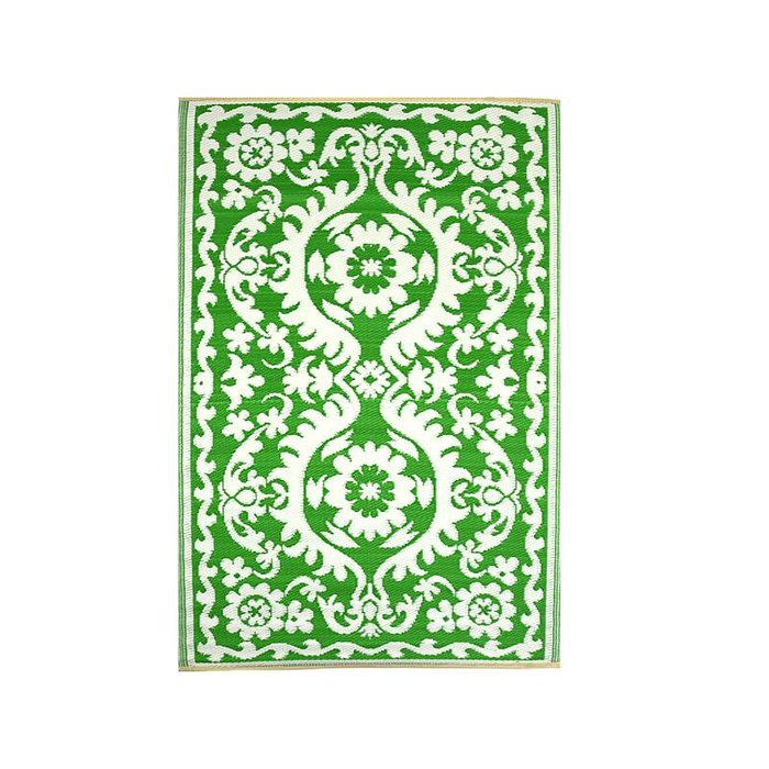 Buitenkleed groen wit hippy