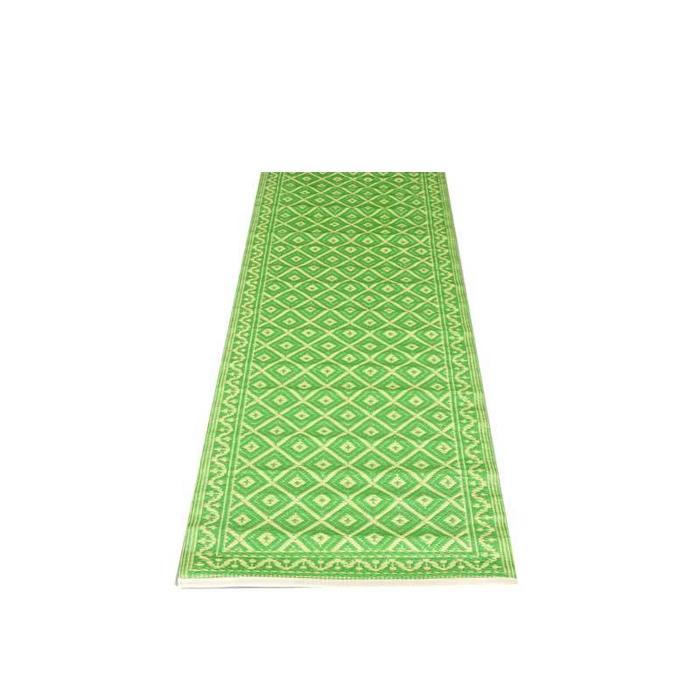 Groen balkonkleed grafisch patroon