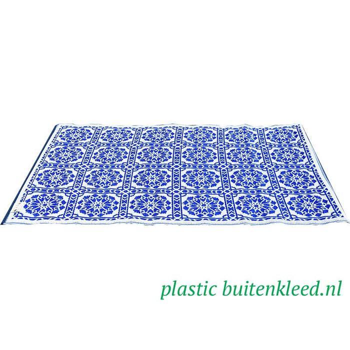 Delfs blauw vloerkleed