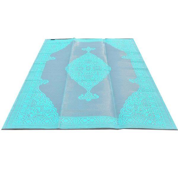 Wonder Rugs Turquoise met grijs buitenkleed oosters