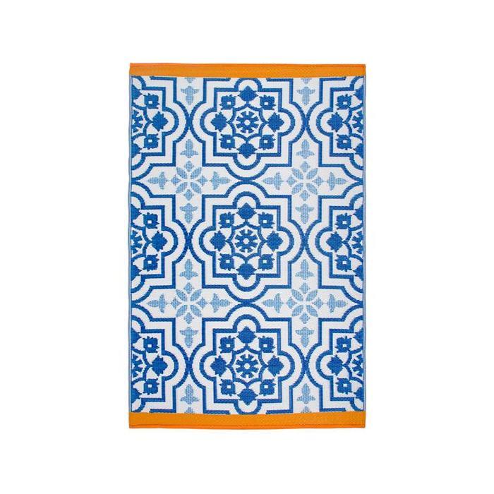 Buitenvloerkleed mediterrane blauw