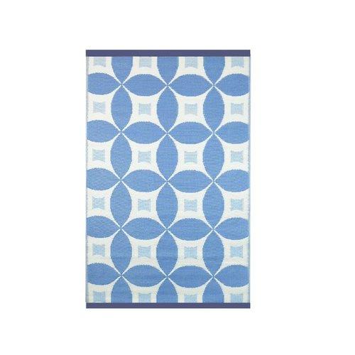 Wonder Rugs Buitentapijt blauw wit