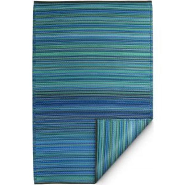 Blauw turquoise buitenkleed stripes