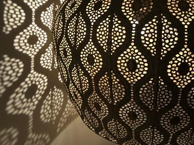 Close up filigrain hanglamp