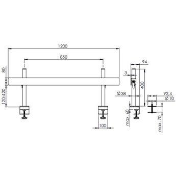 Dataflex Viewmate toolbar Zilver - bureau 112
