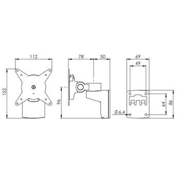 Dataflex Viewlite monitorarm Zilver/Wit - wand 202