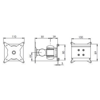 Dataflex Viewmate monitorarm - rail 132