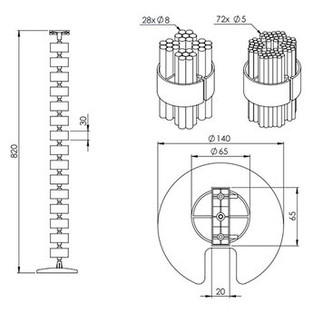 Dataflex Addit Kabel Worm 202-87 CM