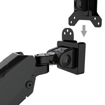 Vision Mounts VM GM212U Monitorarm Met Gasveer Zwart